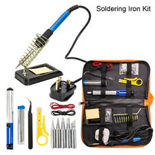 UK Soldering Iron Kit Electronics Welding Irons Tool 60W Adjustable Temperature