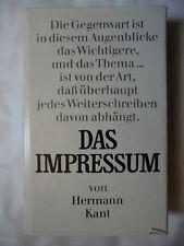 Das Impressum von Hermann Kant - 1975 - MK68