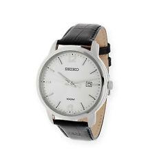 Seiko Neo Classic SUR265P1 Reloj Hombre Acero Cuero Negro Nuevo A Estrenar