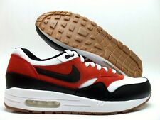 NIKE AIR MAX 1 ESSENTIAL WHITE/BLACK-GAMMA ORANGE SIZE MEN'S 12 [537383-122]