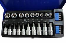 Torx Sockets & Bits Set male & female Star T & E Sockets 3/8 & 1/2 drive Torx