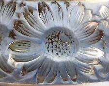 "Rare R Lalique Marguerites 13"" Centerpiece Bowl Blue Patina Circa 1930's"