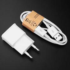5V 2A USB Wand EU Plug Ladegeräte Adapter + Kabel für Samsung Galaxy S6 S7 Note