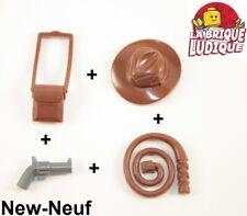 Lego kit 4 accessoire arme Indiana Jones fouet pistolet chapeau sacoche NEUF