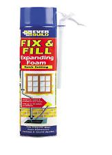 FIX & FILL EXPANDING FOAM AND FILLER 500ml EVERBUILD QUICK SETTING FILLS GAPS
