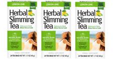 21st Century Herbal Slimming Tea Lemon Lime 24 Bags Pack of 3 (72 bags total)