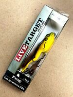 """Koppers Live Target 4-1/8"""" Green Brown 5/8 oz. Frog Topwater Fishing Lure"""