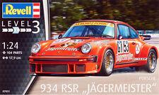 Revell Germany 1/24 Porsche 934 RSR Jagermeister SCALE PLASTIC MODEL KIT 07031