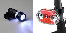 front power beam 5 led + rear 9 led bike lights set - bright light smart leds UK