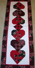 INSTRUCTIONS~WOVEN HEARTS TABLE RUNNER QUILT PATTERN~FEBRUARY~VALENTINE~year 1