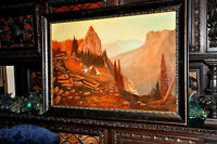 Vintage Western Landscape  Painting