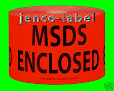 HE3507R, 500 3x5 MSDS Enclosed Label/Sticker