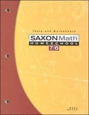 Saxon Math 7/6 (Grade 6) Tests & Worksheets    4th Edition  NEW