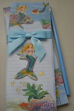 Mermaid Stationary Gift Set 2 Note Pads Magnet Pencil Cape Shore 2013 New