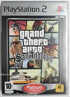 jeu GRAND THEFT AUTO GTA SAN ANDREAS platinum sur playstation 2 PS2 francais