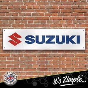 Suzuki Motorcycle Banner Garage Workshop Sign Printed PVC Trackside Display