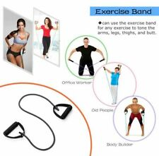 5 Levels Resistance Bands with Handles Yoga Pull Rope Elastic Fitness Tube Band