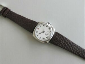 ANTIQUE UNO Silver Cushion Case  TRENCH WATCH   by DIMIER Freres