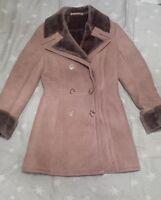Manteau / caban en peau lainée beige comme neuf t36