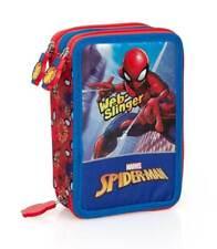 Spiderman Trousse 3-fach Remplie Trousse à Crayons Sac Marvel Spider-Man