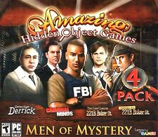 Amazing Hidden Object Games Men Of Mystery 4 Pack PC Games Windows 10 8 7 XP