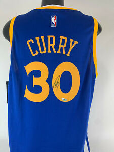 Stephen Curry Signed Autographed Adidas Swingman Jersey Fanatics coa sz L
