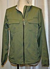 EDDIE BAUER TRAVEX OUTERWEAR JACKET ZIP UP SLEEVE RAIN COVER UP GREEN XL