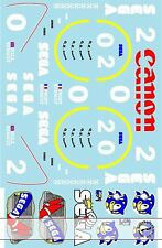 1/12 WILLIAMS FW14B -> FW15C TRANS HILL PROST DECALS for TAMIYA