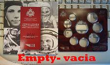 SAN MARINO Cartera VACIA SIN MONEDAS  2011 50º Aniversario del hombre en la luna