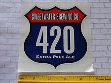 Beer STICKER ~*~ SWEET WATER Brewing Co 420 Extra Pale Ale ~*~ Atlanta, GEORGIA