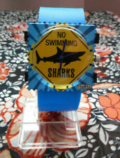Montre STAMPS waterproof Sharks No Swimming, Neuve + cordon offert
