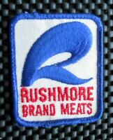 "RUSHMORE BRAND MEATS EMBROIDERED SEW ON ONLY PATCH ADVERTISING 2 1/2"" x 3"""