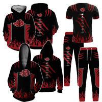 New Men's Hoodie Pullover Pants T-Shirt Naruto0 Hooded 3D Print Sweatshirts Coat
