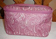 ESTEE' LAUDER COSMETIC or TRAVEL BAG~Rose Pink Paisley~Zip Top & Handle~NEW