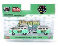 1:64 M2 Machines *MiJo* MAUI 1959 VW Microbus & Trailer *NIP*