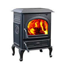 HiFlame 18KW Medium Cast Iron Wood Burning Stove HF717UA Paint Black-NEW IN BOX