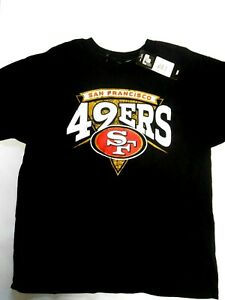 NEW San Francisco SF 49ers XLarge Youth Black T-Shirt Official NFL Licensed