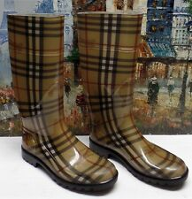 Burberry Tall Rubber Rain Boot - Size 37