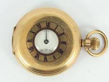 Vintage Thos Russell & Son Half Hunter Pocket Watch Elgin Spares Repair Ge47