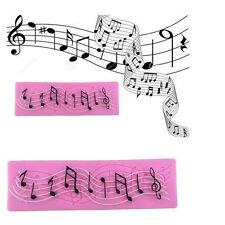Music Notes Silicone Fondant Mold Cake Decorating Sugarcraft Mat Baking Mould