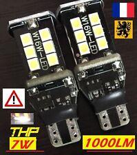 2x T15 W16W LED THP ⚠️ 1000lm 15SMD 6000k BLANC 12V 7W FEUX RECUL ANTI ERREUR✅