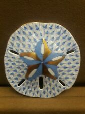 HEREND, SAND DOLLAR, BLUE FISHNET,  #15594, BRAND NEW, FREE SHIPPING
