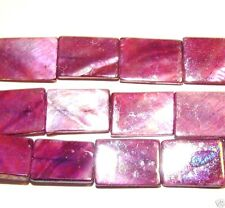 """MP198e Purple Fuchsia AB 20mm Rectangle Mother of Pearl Shell Beads 15"""""""