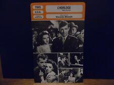 CARTE FICHE MONSIEUR CINEMA 1945 – L'HORLOGE – Garland Walker Gleasoni