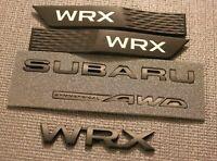 NEW MATTE BLACK BADGE BUNDLE REAR + FENDER BADGE for subi 2015+ W-R-X / S-T-I