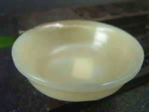 Antique Chinese Nephrite Celadon-HETIAN-OLD Jade bowl Statue QING Dy.
