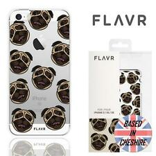 Flavr Apple iPhone 5 5S SE Pug Dog Case Hard Shockproof Slim Tough Clear Cover