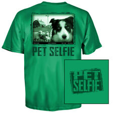 Pet Selfie Shep's Paddock Border Collie T-Shirt (2X)- Kelly