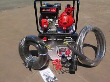 6.5hp Twin Impeller High Pressure 4-Stroke Fire Fighting Pump with Hose Kit
