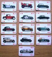 UNUSUAL COLLECTABLE SUIT OF CARDS ( HEARTS ) ISSUED BY AUDI OF VINTAGE AUDI CARS
